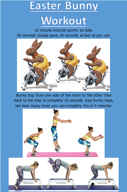 Easter Bunny Workout Pace Health Club Manchester